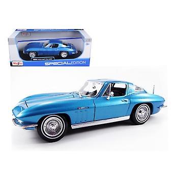 1965 Chevrolet Corvette Azul 1/18 Diecast Modelo Coche por Maisto