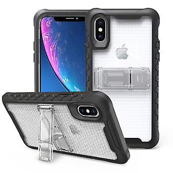 Transparent Honeycomb For iPhone XR Case,Armour Phone Cover,KickStand