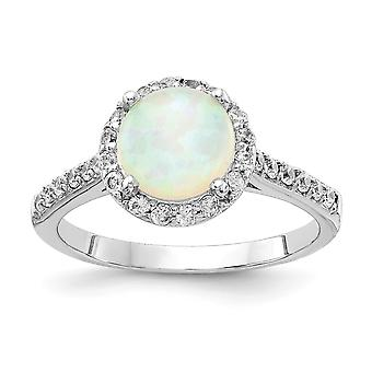 Cheryl M 925 Sterling Silver Lab Created White Opal Ring Jewelry Gifts for Women - Ring Size: 6 to 8
