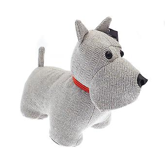 Country Club Door Stop, Grey Dog with Red Collar