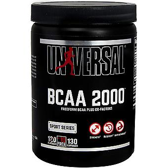 Universal Nutrition BCAA 2000 130 Capsules, Free form branched-chain amino acids