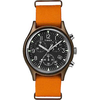 Timex MK1 Chrono Nylon Indiglo Mens Watch TW2T10600