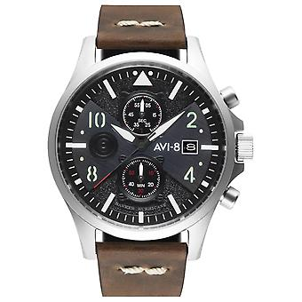 Hawker Hurricane Japanese Quartz Analog Man Watch with AV-4068-01 Cowskin Bracelet