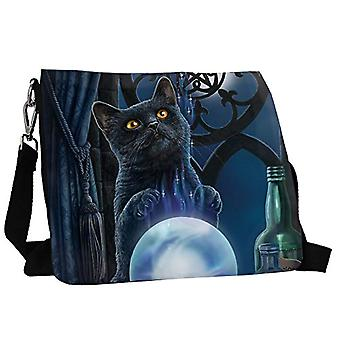 Nemesis Now Witches Apprentice 27cm black PU shoulder bag and one-size-fits-all canvas