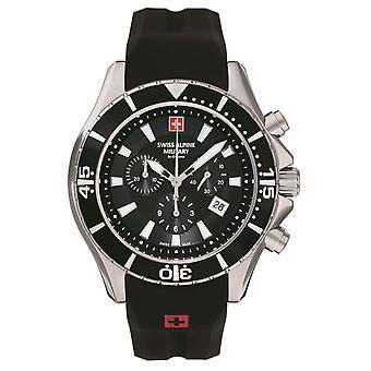 Sveitsin Alpine Military Miesten Watch Chronograph Analoginen Kvartsi 7040.9837SAM Siikon