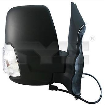 Pravé zrcátko řidiče (ruční, jasný indikátor) pro sběrnici Ford TRANSIT 2014-2020