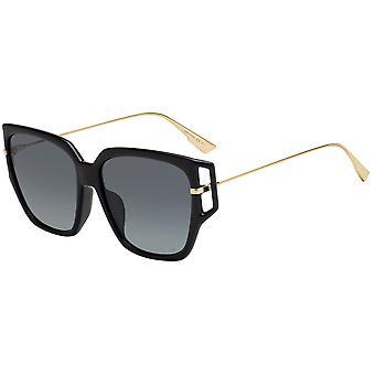 Dior suunta 3F 807/1I musta/harmaa kaltevuus aurinkolasit