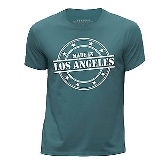 STUFF4 Boy's Round Neck T-Shirt/Made In Los Angeles/Ocean Green
