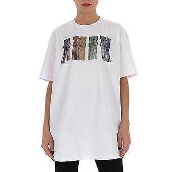 Amen Ams20222001 Kvinnor's Vit bomull T-shirt