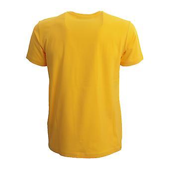 Iceberg F01c63093331 Men's Yellow Cotton T-shirt