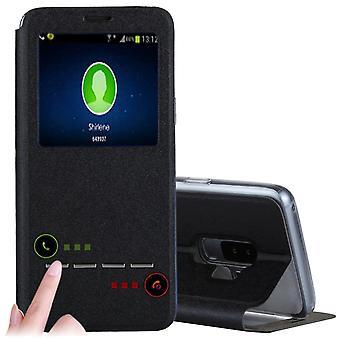 Fodral med Call-ID & Svara funktion- Samsung Galaxy S9 Plus