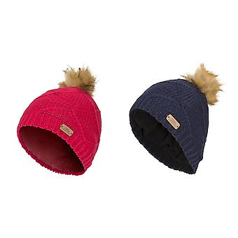 Trespass Childrens Girls Tanisha Faux Fur Winter Beanie