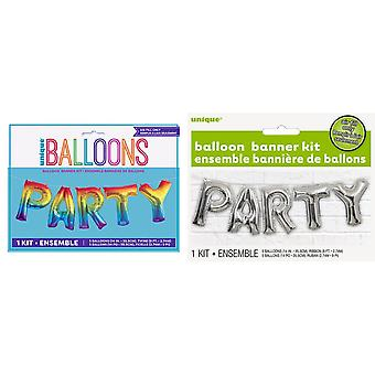 Unique Party Party Foil Balloon Banner Kit