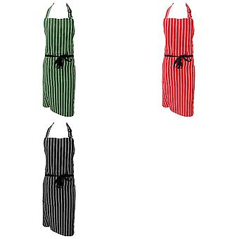 Dennys Unisex Cotton Striped Workwear Butchers Apron (Pack of 2)