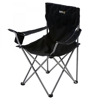 Regatta Isla Folding Camping Chair Black/Seal Grey