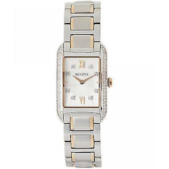 Булова Женские часы Классические алмаз 98R227