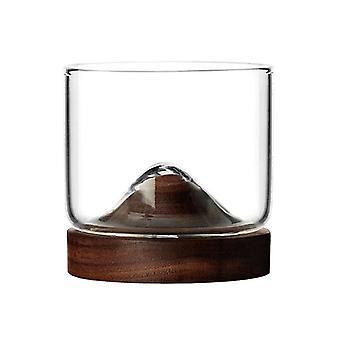 Whisky glas med træ coastere