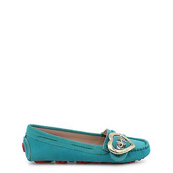Love Moschino Original Women Spring/Summer Moccasin - Blue Color 33802