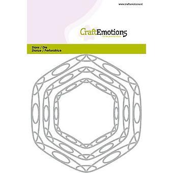 CraftEmotions يموت -- إطارات الفن سداسي بطاقة 10،5x14، 8cm - 6،5 - 11cm