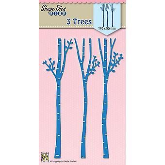Nellie's Choice Shape Dies 3-trees SDB050 140x95mm