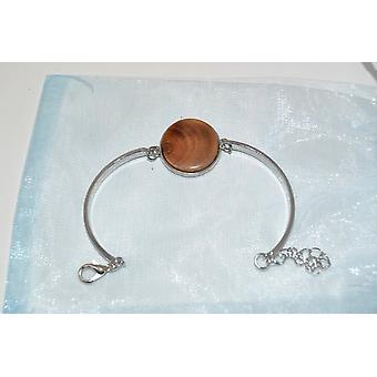 Houten armband ketting 2,5 cm houten sieraden esdoorn armband sieraden handgemaaktuniek geschenk roestvrij staal