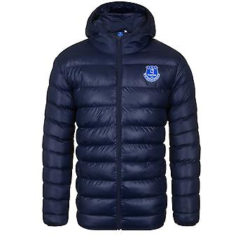 Everton FC Official Football Gift Mens Quilted Hooded Winter Jacket