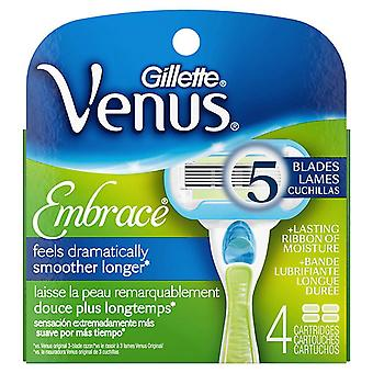 Gillette venus embrace razor refill cartridges, 4 ea