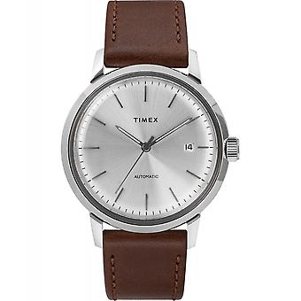 Timex TW2T227007 Marlin Automatic Wristwatch Brown Strap