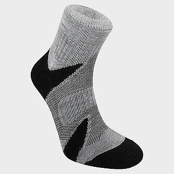 Nieuwe Bridgedale Men's Trail Sport Lichtgewicht Merino Cool Comfort Sokken Zwart/Zilver