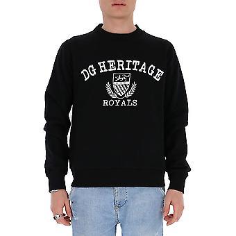 Dolce E Gabbana G9qi1tfu7dun0000 Män's Svart bomullströja