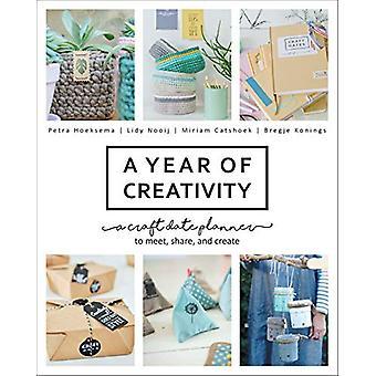 Une année de créativité - Un planificateur de date artisanale à rencontrer - Partager - et Crea