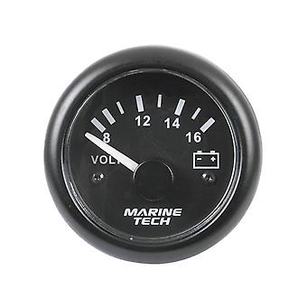 TechBrands Battery Volt Meter Indicator Analogue (8-16V Black)