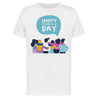 Happy Friendship Day Friends Tee Men's -Kuva Shutterstock