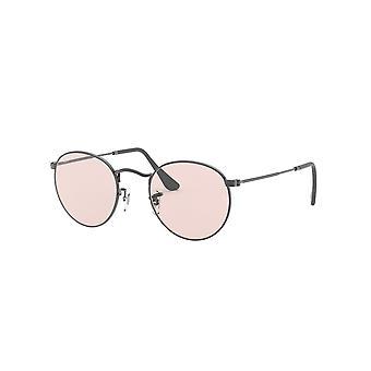 Ray-Ban Round Metal RB3447 004/T5 Gunmetal/Light Pink Photochromic Sunglasses