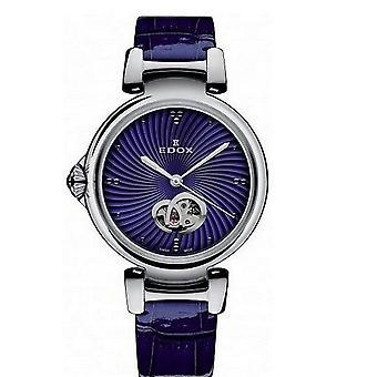 Edox Horloges LaPassion Open Heart Women's Watch Automatic 85025 3C BUIN