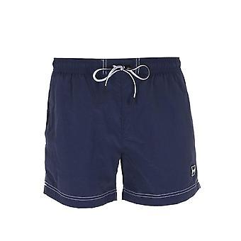 BOSS Atum Small Tab Navy Swim Shorts