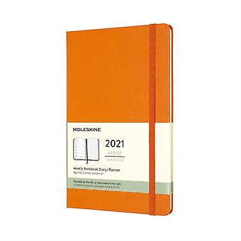 2021 12M Wkly Ntbk Lrg Cadmium Orange HD