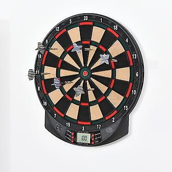 HOMCOM LCD Electronic Dartboard Set Features 26 Games w/ 185 Variations and Include 6 Darts Multi-Game Option Ready-to-Play