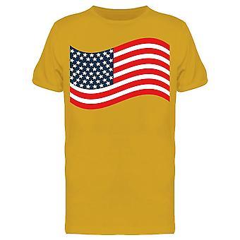 Usa Flag Waves Tee Men's -Image di Shutterstock