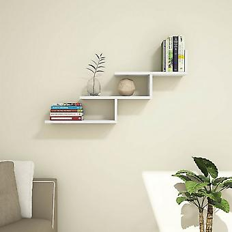 Support Color White shelf in Melaminic Chip, PVC 98.2x22x50.4 cm