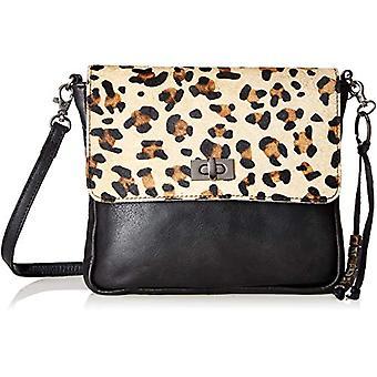 Legend FALZES Multicolored Women's shoulder bag (Black/panther 0080)) 3x10x21 cm (B x H x T)