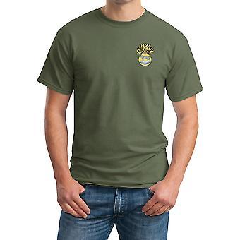 Royal Munster Fusiliers brodert Logo - offisielle britiske hæren ringspunnet T skjorte