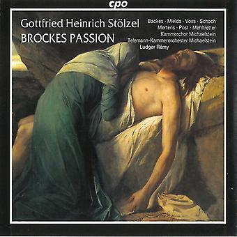 G.H. Stolzel - Gottfried Heintich st Lzel: Brockes Passion [CD] USA import