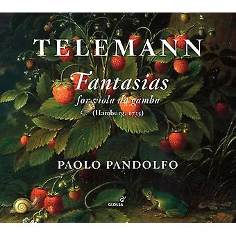 Telemann / Pandolfo - Fantasias for Viola Da Gamba [CD] USA import