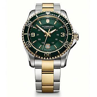 Victorinox Swiss Army Watches 241605 Maverick 43mm Gold Two Toned Swiss Quartz Watch