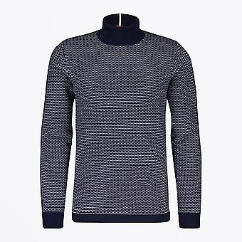 Blue Industry  - Geometric High Neck Knit - Navy