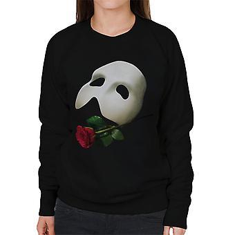 The Phantom Of The Opera Mask & Rose Women's Sweatshirt