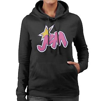 Jem And The Holograms Light Pink Logo Women's Hooded Sweatshirt