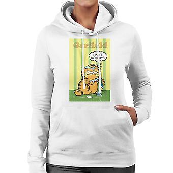 Garfield Grumpy jag hatar måndagar tandkräm överallt kvinnor ' s Huvtröja