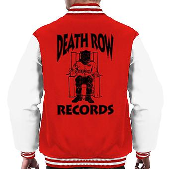 Death Row Records stoel Logo Black mannen Varsity Jacket
